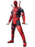 Adult Deadpool Muscle Chest Costume [810109]