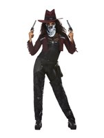 Adult Deluxe Dark Spirit Western Cowgirl Costume