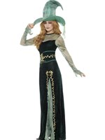 Adult Deluxe Emerald Witch Costume