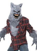 Adult Deluxe Grey Lycan Costume