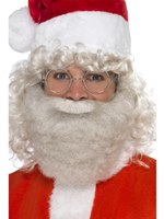 Adult Deluxe Grey Santa Beard