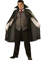Adult Deluxe Plus Size Midnight Vampire Costume [15002]