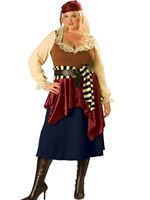 Adult Deluxe Plus Size Buccaneer Beauty Costume