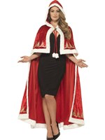 Adult Deluxe Miss Claus Cape