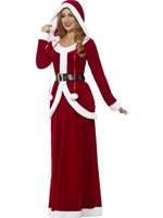 Adult Deluxe Ms Claus Costume