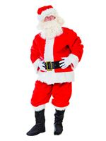Adult Deluxe Plush Santa Suit Costume [AC457]