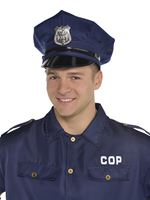 Adult Deluxe Police Hat [845621-55]