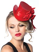 Adult Deluxe Red Satin Top Hat