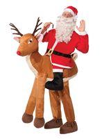Adult Deluxe Santa Ridin' Reindeer Costume