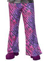 Adult Disco Fever Zebra Flares [9907397]