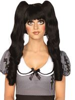 Adult Deluxe Black Dolly Bob Wig [A2732B]