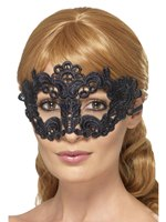 Adult Embroidered Lace Filigree Floral Eye Mask