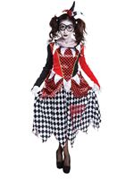 Adult Evil Harlequin Girl Costume