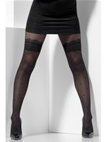 Adult Fever Black Sheer Tights