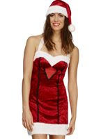 Adult Fever Miss Santa Costume