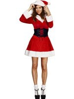 Adult Fever Hooded Santa Costume [36988]