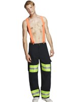 Adult Fever Male Firefighter Costume [20897]