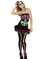Adult Fever Neon Skeleton Costume