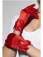 Adult Fever Short Red Gloves
