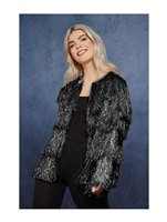 Adult Fever Tinsel Festival Jacket Black [74007]
