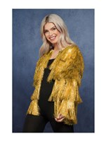 Adult Fever Tinsel Festival Jacket Gold [74005]