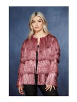 Adult Fever Tinsel Festival Jacket Pink [74000]