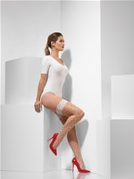 Adult Fever White Diamond Net Hold Ups