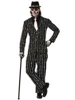 Adult Deluxe Bone Pin Stripe Suit Costume [73549]