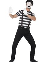 Adult Gentleman Mime Artist Costume