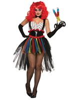 Adult Girlie Evil Clown Costume