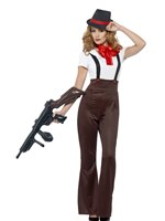 Adult Glam Gangster Costume [24635]