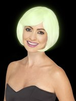 Adult Glow in the Dark Bob Party Wig