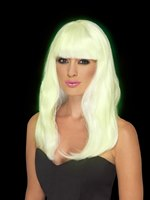 Adult Glow in the Dark Glam Party Wig