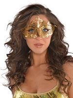 Adult Gold Filigree Mask