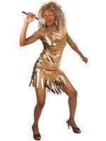 Adult Gold Rock Queen Costume