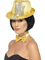 Adult Gold Sequin Trilby Hat [44379]