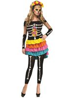 Adult Day of the Dead Dia De Los Mueros Costume [124084]