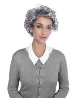 Adult Granny Wig & Glasses