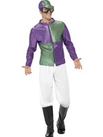 Adult Green and Purple Jockey Costume [44629]