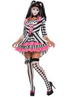 Adult Harlequin Clown Ring Mistress Costume
