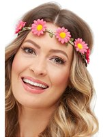 Adult Hawaiian Hippie Daisy Chain Headband