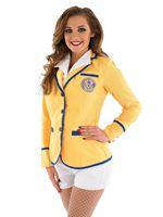 Adult Hi De Hi Female Yellow Coat Costume