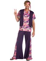 Adult Hippy Man Purple Costume [9908832]