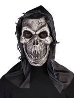 Adult Hooded Metal Skull Mask
