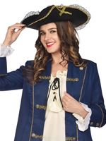 Adult Lace and Gold Trim Pirate Hat [9909469]