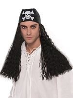 Adult Pirate Bandana Wig