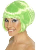 Adult Neon Green Glamour Babe Wig