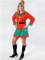 Adult Ladies Santa's Helper Costume [AC516]