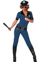 Adult Ladies Sexy Catsuit Police Costume