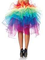Adult Layered Organza Bustle Skirt [A1999]